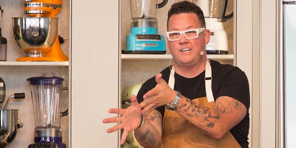 AUSTIN, TX - APRIL 26: Chef Graham Elliot co-hosts 'So Fresh And So Spring, Spring' during the third annual Austin FOOD & WINE Festival at Butler Park on April 26, 2014 in Austin, Texas. (Photo by Rick Kern/WireImage)