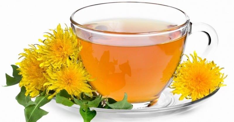 Лист одуванчика чай