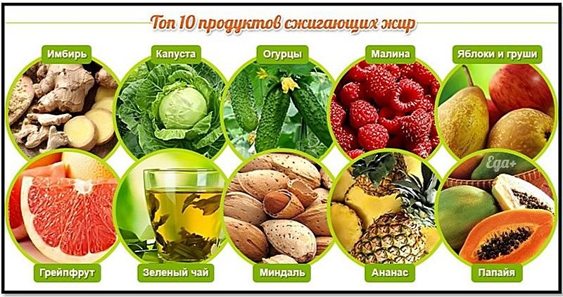 фрукты овощи выведение жира