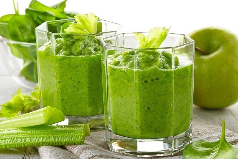 зелёный коктейль для похудения рецепт