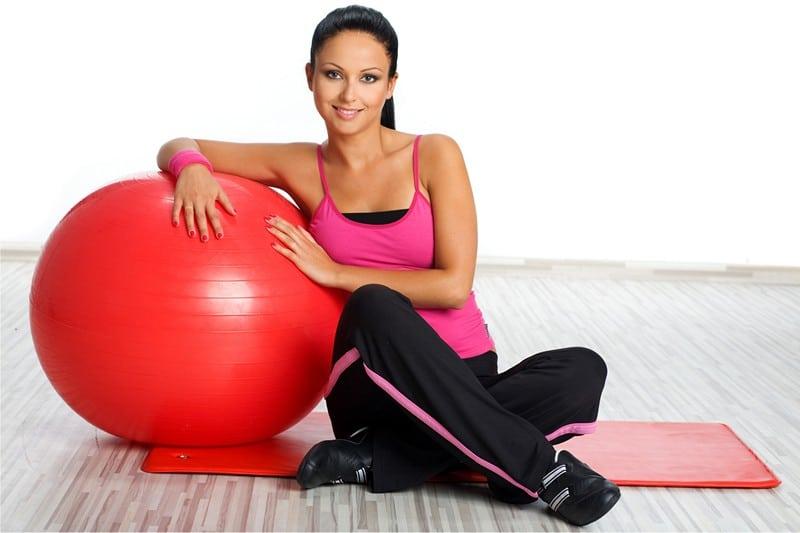 гимнастика для похудения с мячом