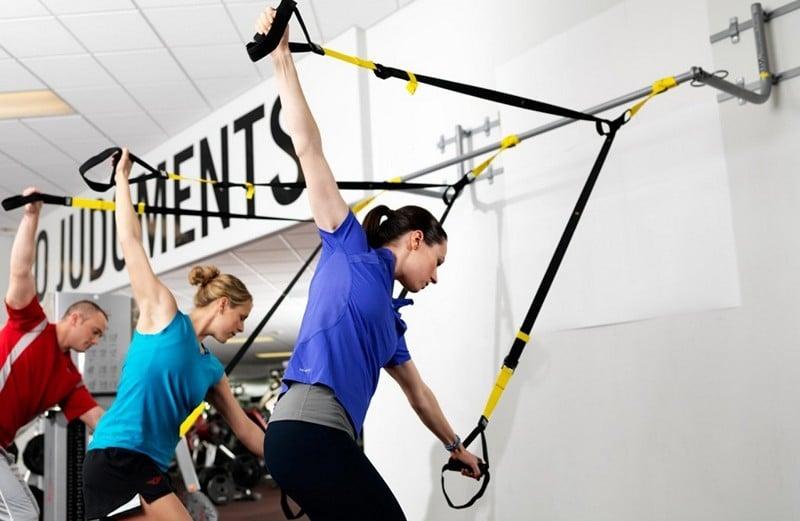 упражнения с веревочным тренажером