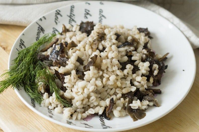 калорийность перловой каши с грибами