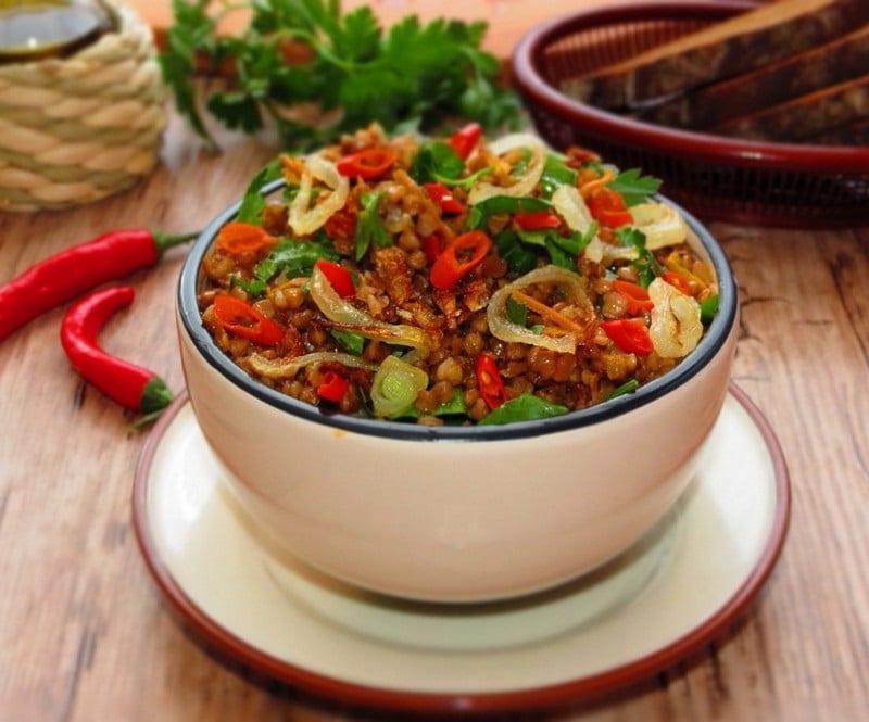 гречневая каша с овощами калорийность