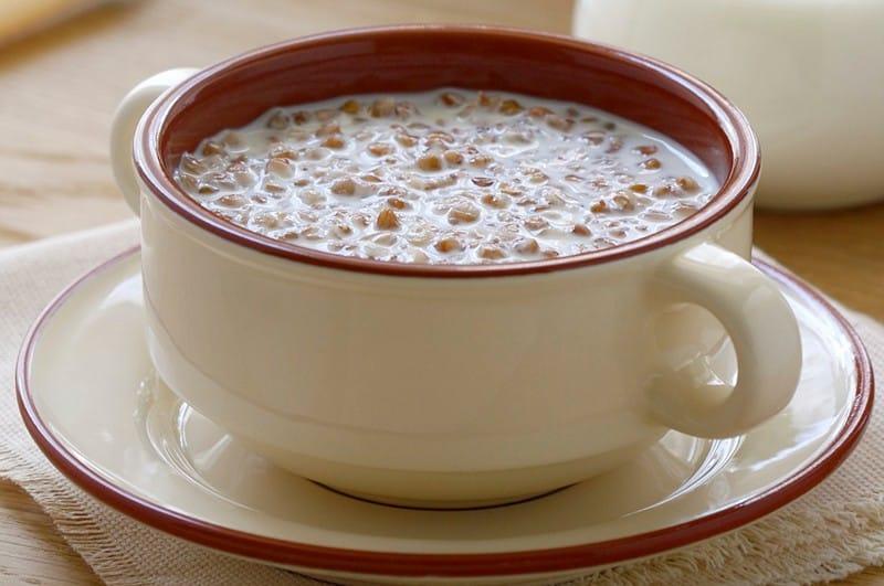 калорийность гречневой каши на молоке