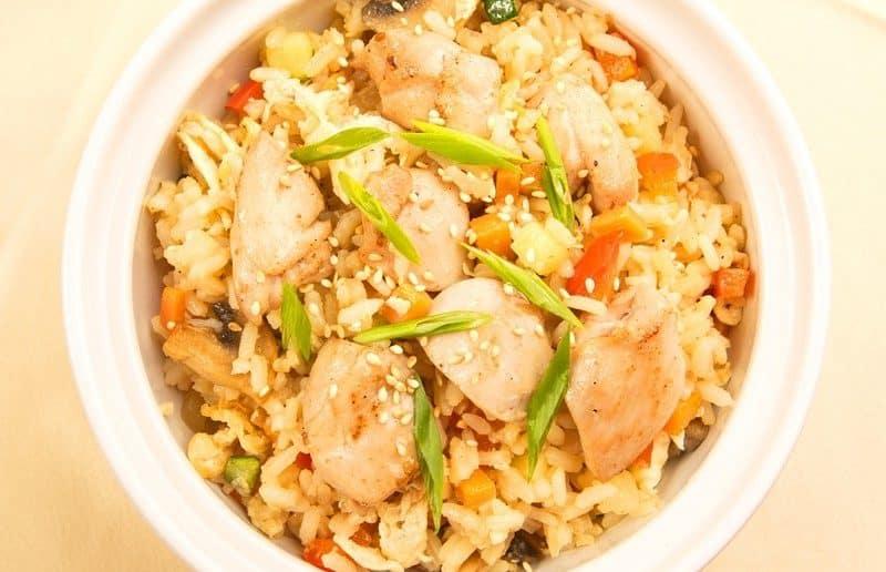 калорийность рисовой каши с мясом