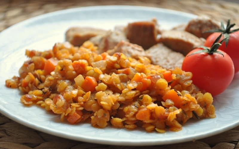 каша из чечевицы рецепты с мясом