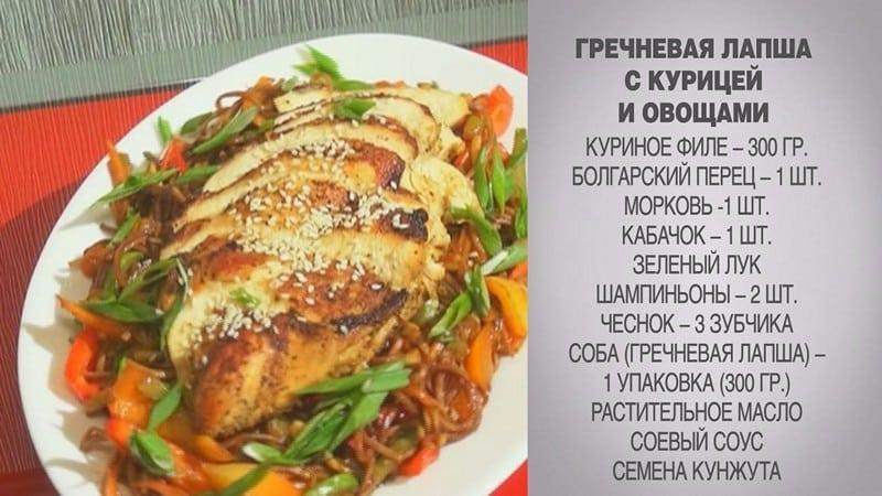 Гречневая лапша с курицей и овощами рецепт с фото пошагово
