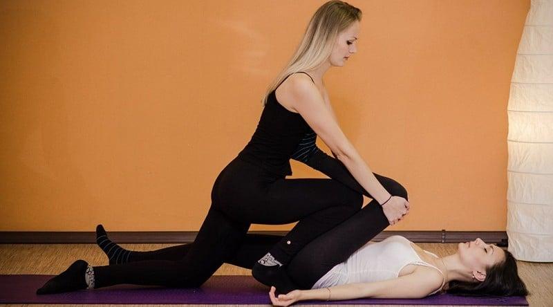 Йога массаж для женщин