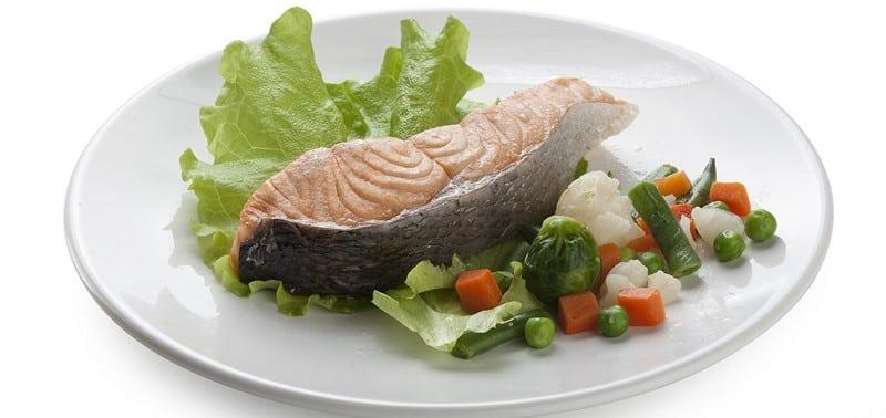 овощи и нежирная рыба