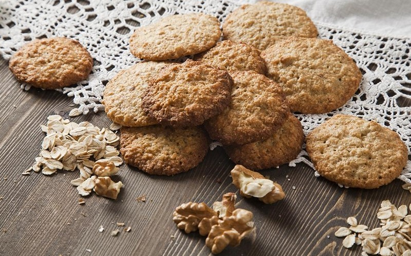 Печенье без яиц с грецкими орехами